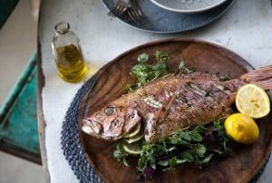 mediterranean diet greek food whole fish