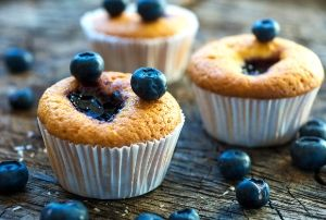 gluten free blueberry lemon muffins