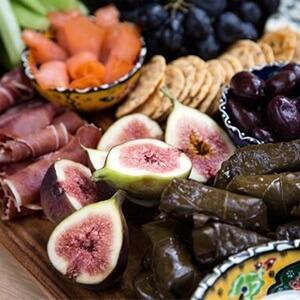 healthy meze platter
